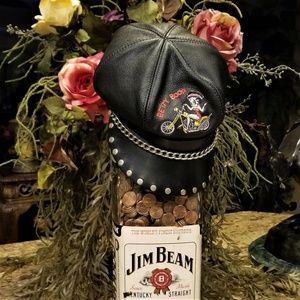 VTG Betty Boop Studded Leather Motorcycle Babe Hat